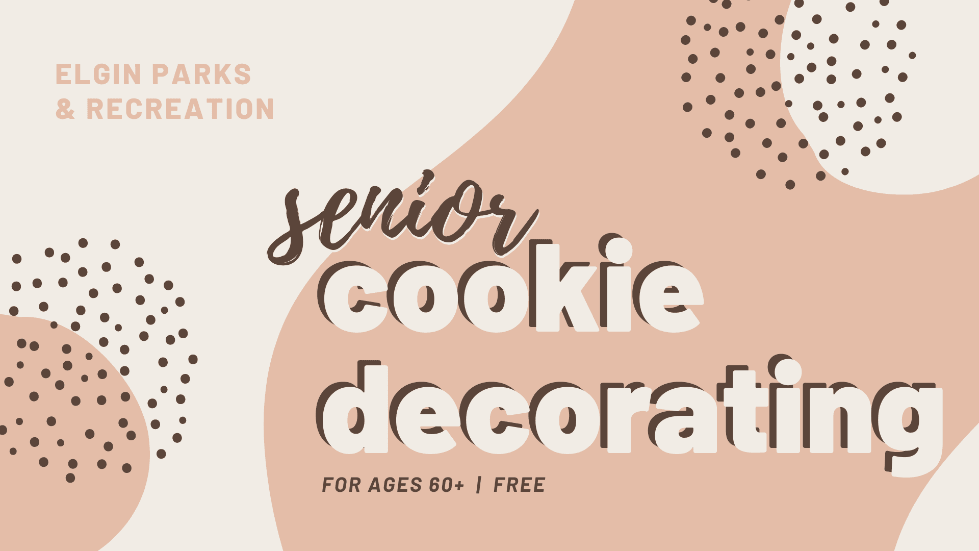 senior cookie decorating flyer