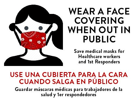 Wear a Face Covering - graphic ENG-SPA